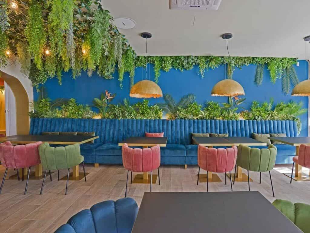 Restoran Struja Umjetne biljke visilice
